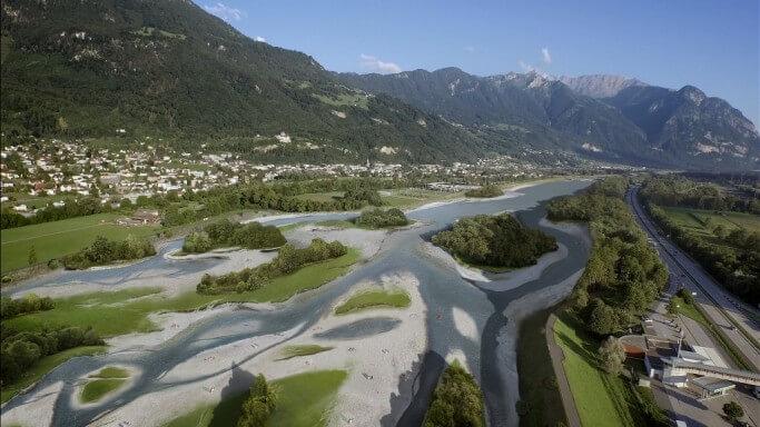 Aufweitungen am Alpenrhein: so sieht die Zukunft aus! Emotionale Bilder – spektakuläre Visualisierungen.