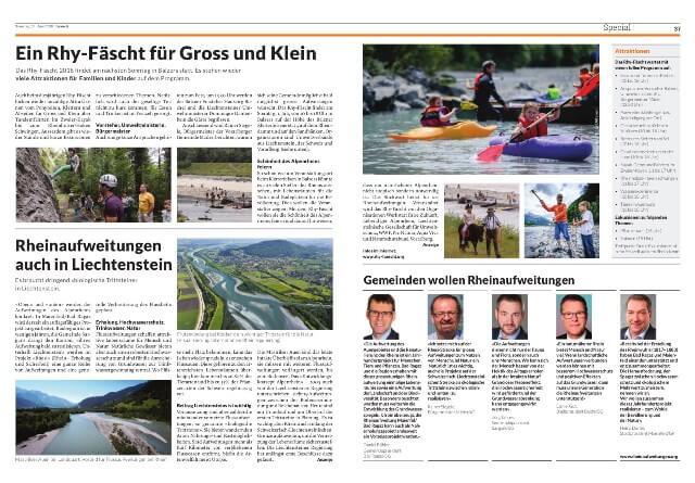 Rhy-Fäscht-Vorschau: Doppelseite in der LieWo vom 24. Juni 2018